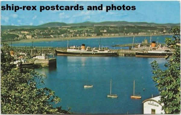 Douglas Bay with Isle Of Man SP ferries - 1961 postcard